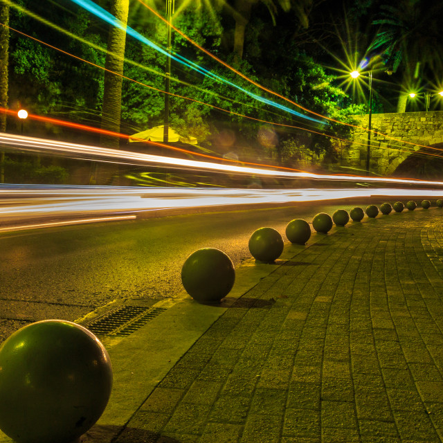 """Light trails"" stock image"