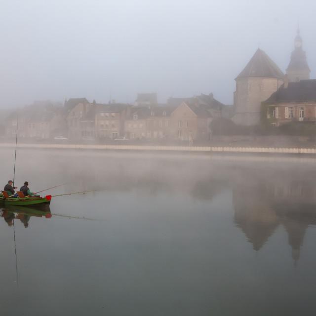 """River Meuse, Givet, France"" stock image"