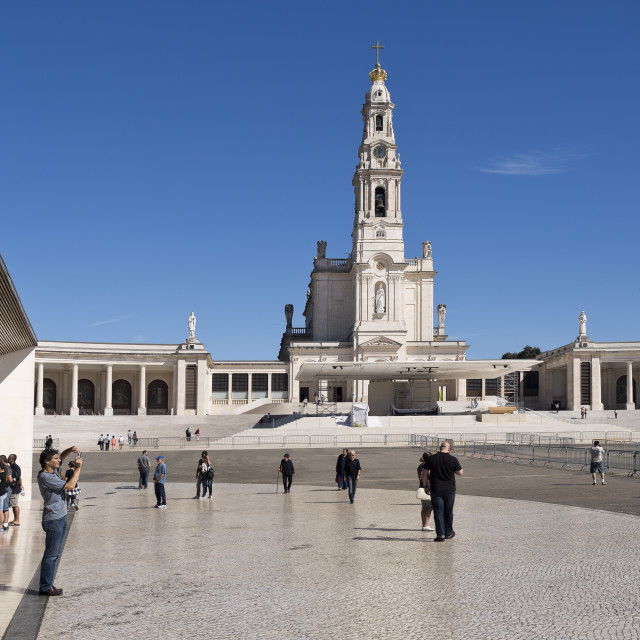 """""""Fatima Shrine of Our Lady of the Rosary"""" stock image"""