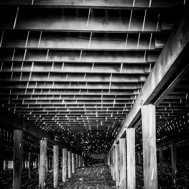 """""""Lights under the Pier"""" stock image"""