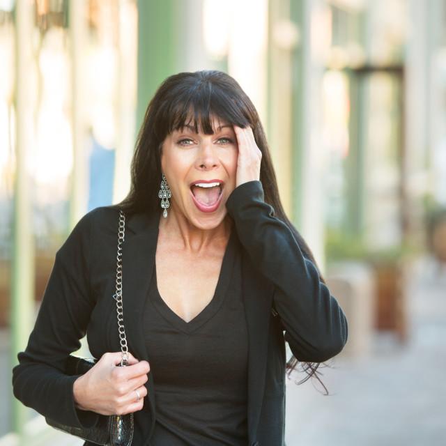 """""""Surprised Female on Street"""" stock image"""
