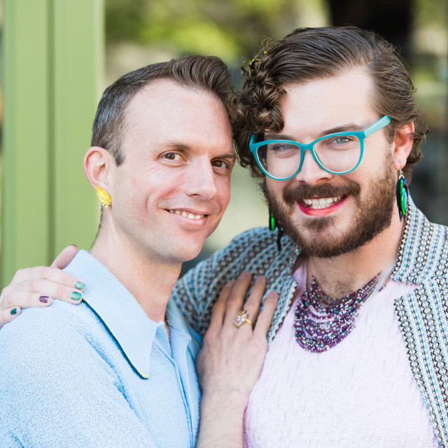 """""""Gender Fluid Young Male Couple"""" stock image"""