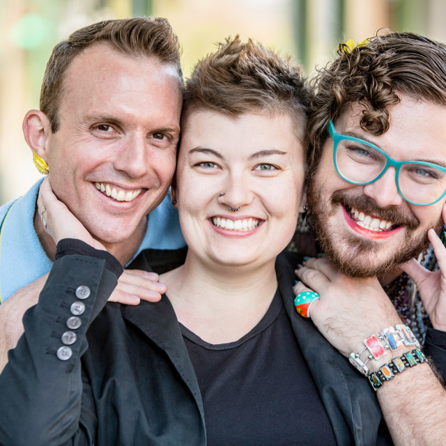 """""""Three Gender Fluid Young People"""" stock image"""