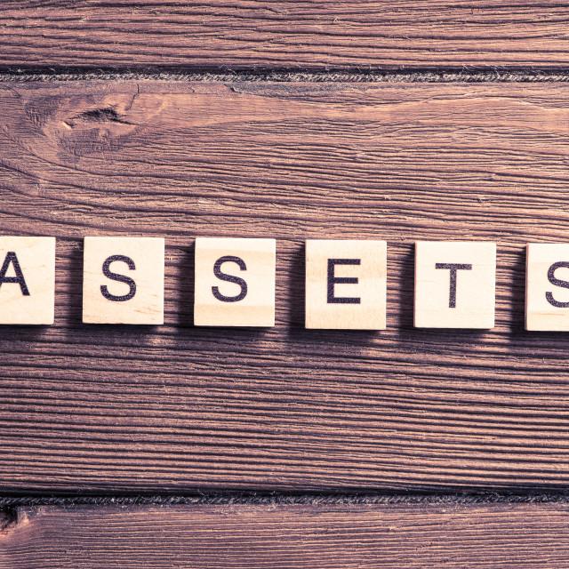 """Asset management concept"" stock image"