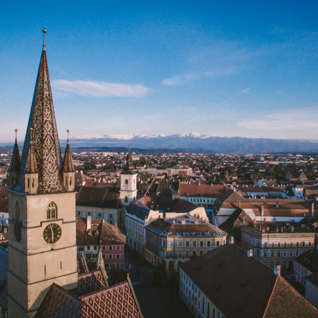 """Above Sibiu"" stock image"