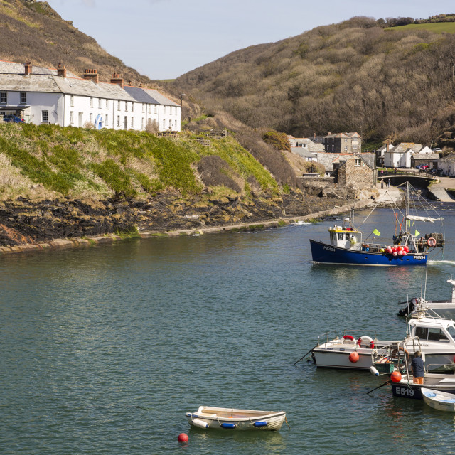 """Boscastle Harbour"" stock image"