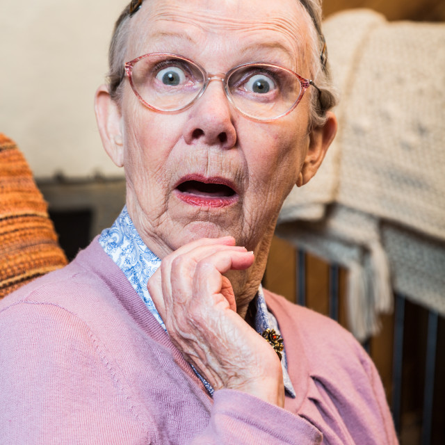 """Surprised Old Woman"" stock image"