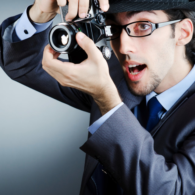 """""""Paparazzi trying to take picture"""" stock image"""