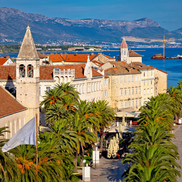 """UNESCO town of Trogir waterfront view"" stock image"
