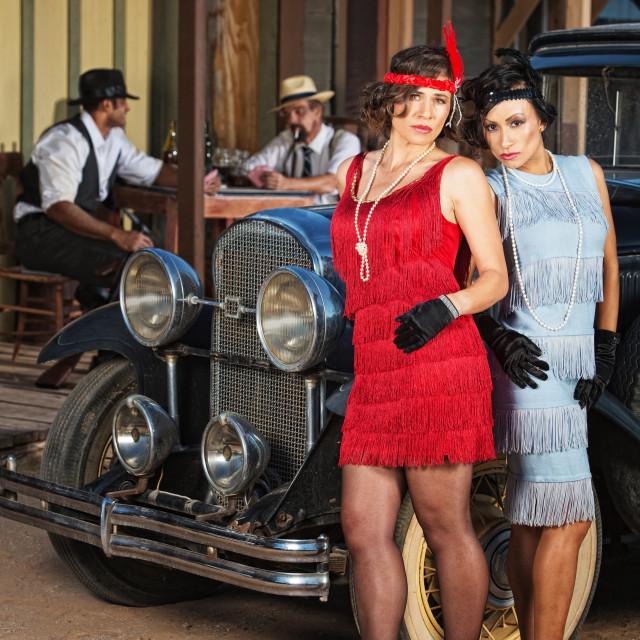 """Serious 1920s Hispanic Women"" stock image"