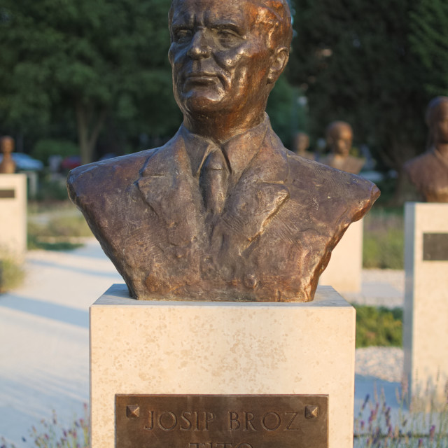 """Josip Broz Tito Bust Statue"" stock image"