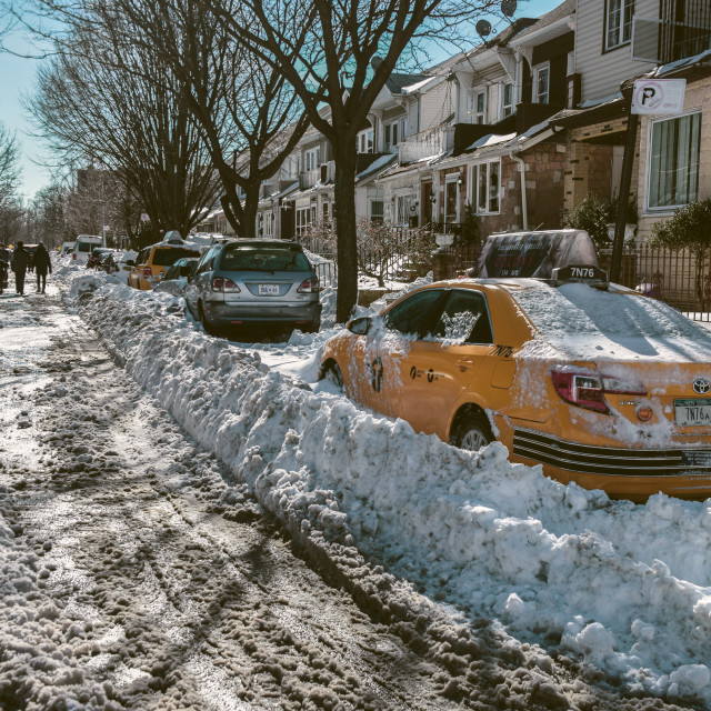 """""""Street in the snow"""" stock image"""