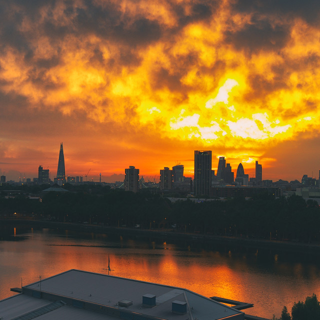 """Sunset Over London"" stock image"