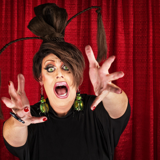 """""""Drag Queen Reaching Out"""" stock image"""