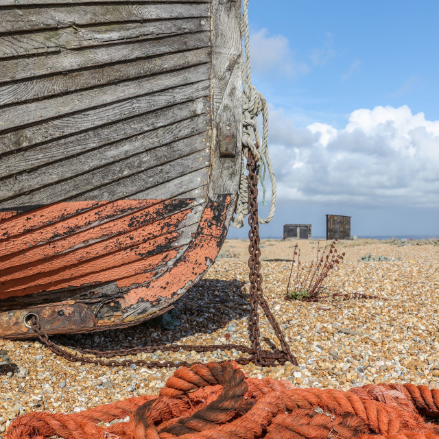 """Boat and Old Rope"" stock image"