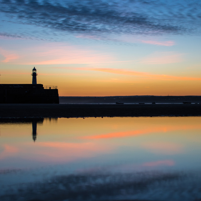 """Reflecting Pier"" stock image"