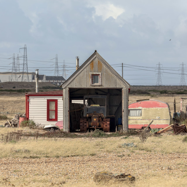 """""""The Tractor Shed"""" stock image"""