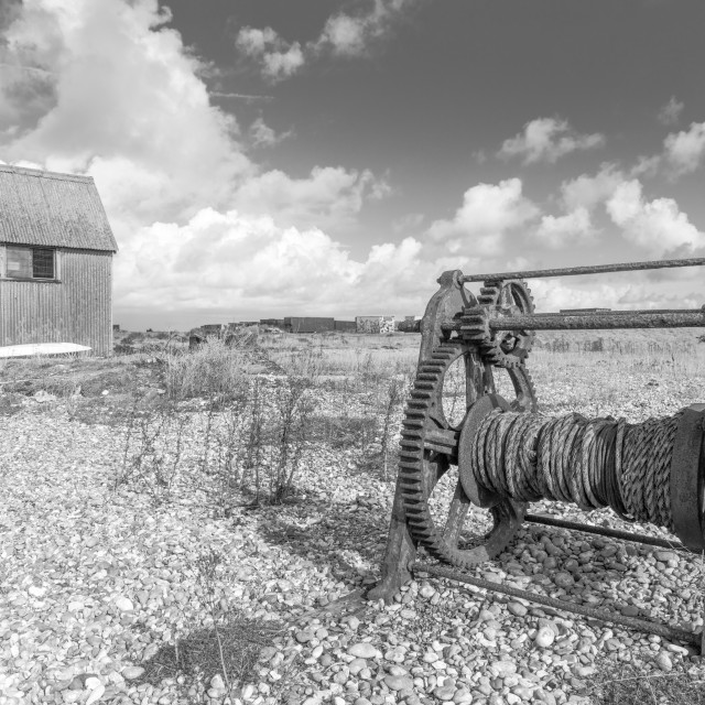 """""""The Winch and Barn"""" stock image"""