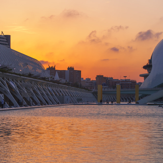 """Sunset in Valencia, Spain"" stock image"