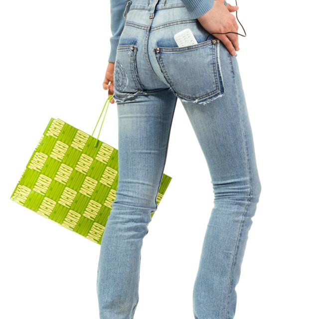 """Shopping girl"" stock image"