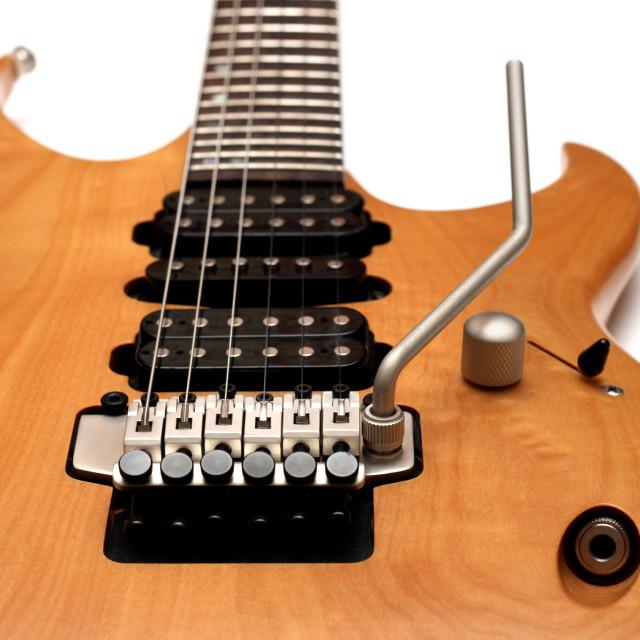 """""""Electric guitar body closeup"""" stock image"""