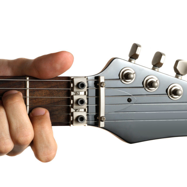 """Playing an electric guitar"" stock image"