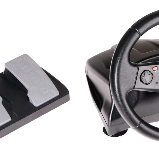 """Gaming steering wheel"" stock image"