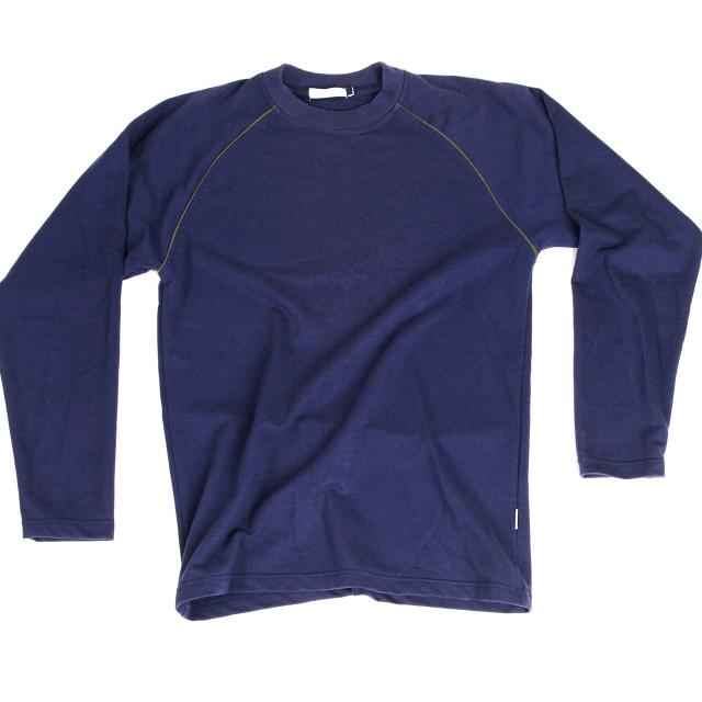 """""""Blue long sleeve shirt"""" stock image"""