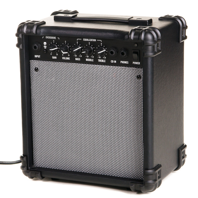 """Electric guitar amplifier"" stock image"