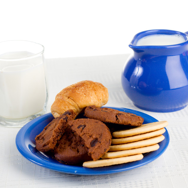 """""""Milk and pastry"""" stock image"""