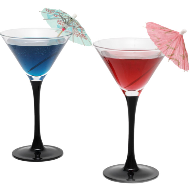 """Two cocktails with umbrellas"" stock image"