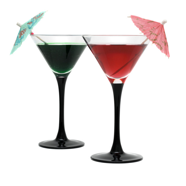"""Two cocktails isolated on white background"" stock image"