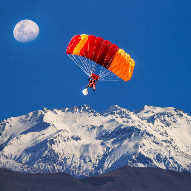 """Sky Diving Queenstown New Zealand"" stock image"