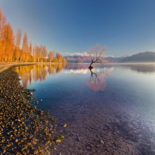 """Lake Wanaka South Island New Zealand"" stock image"
