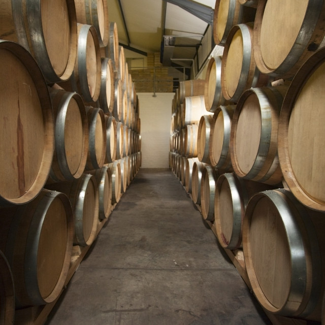 """Wine Barrel Cellar"" stock image"