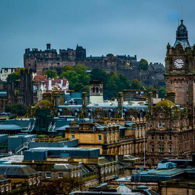 """Edinburgh Rooftops"" stock image"