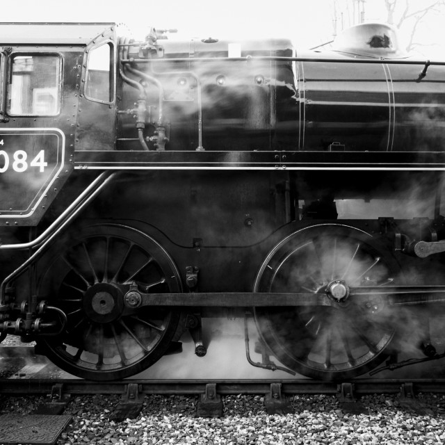 """76084 Standard 4 Steam Locomotive"" stock image"