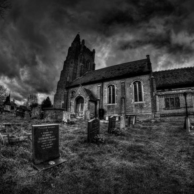 """""""All Saints Rayne, Essex"""" stock image"""