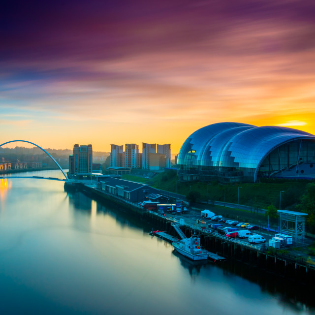 """Sage Sunrise, Gateshead"" stock image"