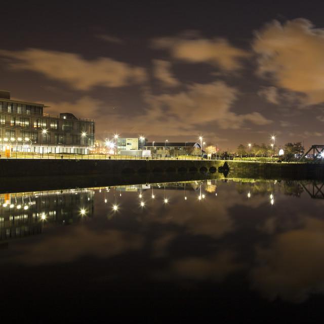 """Egerton Dock Reflection"" stock image"
