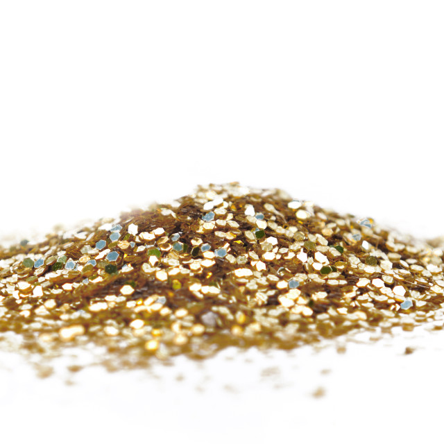 """heap of golden glitters"" stock image"