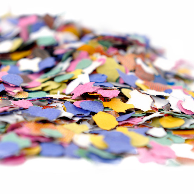"""heap of confettis"" stock image"