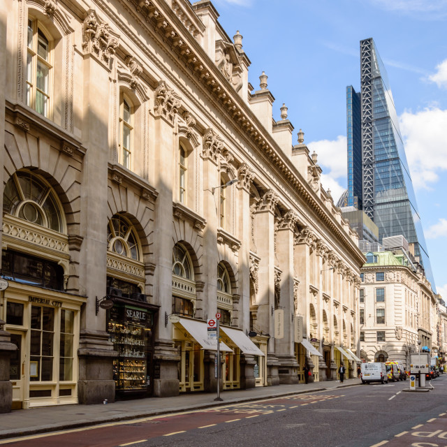"""""""Contrasts in the City of London"""" stock image"""