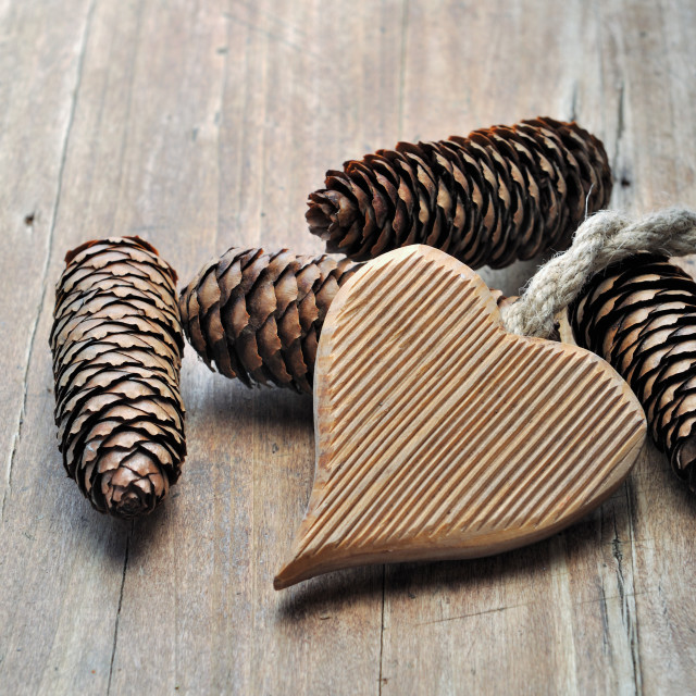 """""""wooden heart shaped"""" stock image"""