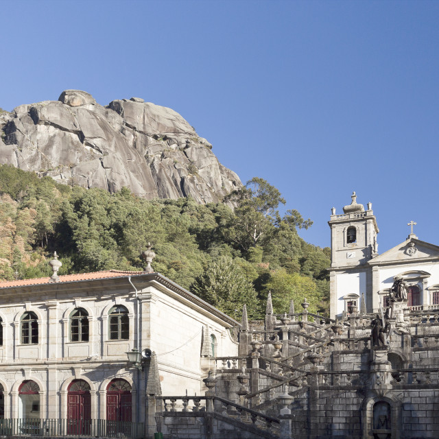 """""""Peneda Sanctuary of Our Lady"""" stock image"""