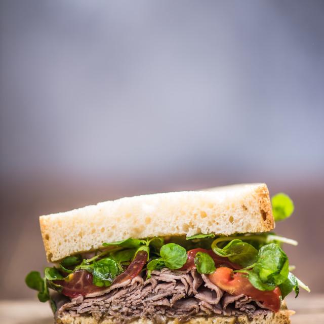 """""""Brunch sandwich on board"""" stock image"""