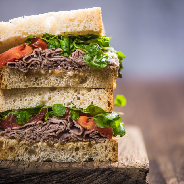 """""""Stack pile of sandwich for brunch"""" stock image"""