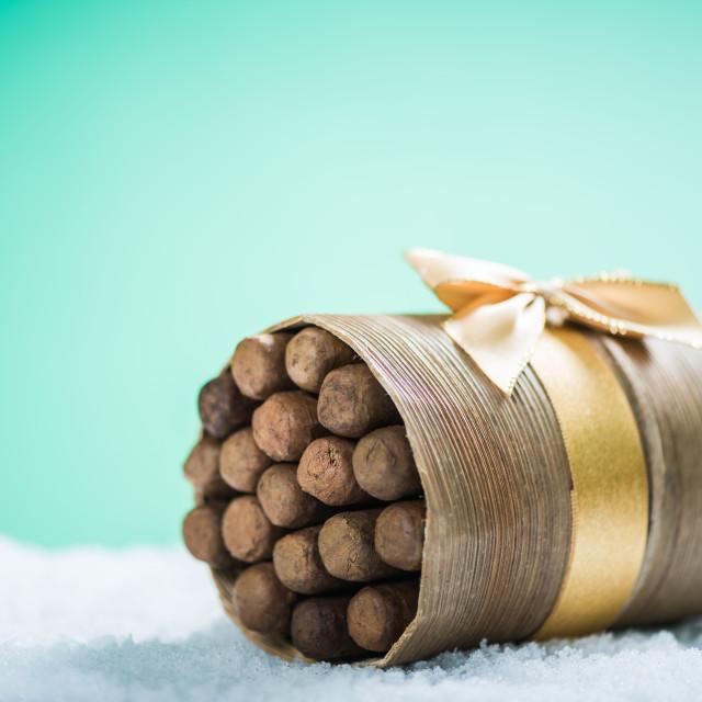"""Cigars as Christmas luxury gift"" stock image"