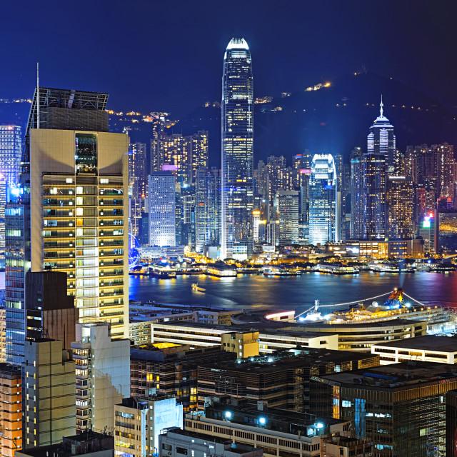 """Hong kong downtown area"" stock image"
