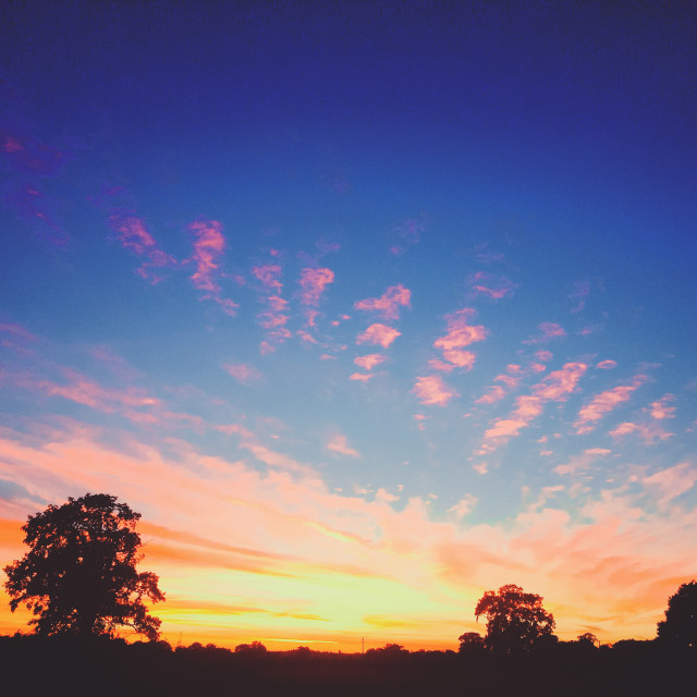"""Autumn Sunset over Berkshire"" stock image"